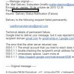 Prueba de envio fallido al e-mail